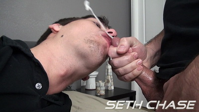 Aiden Swallows a Load